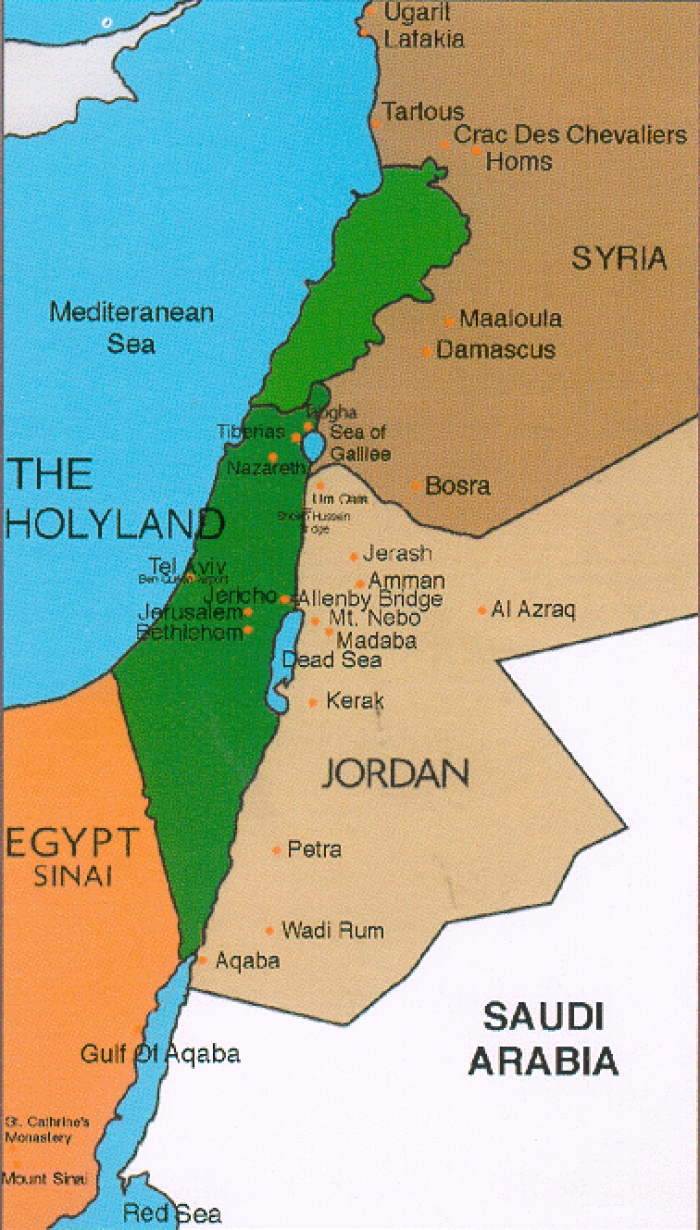 The HOLY LAND - Palestine and Israel